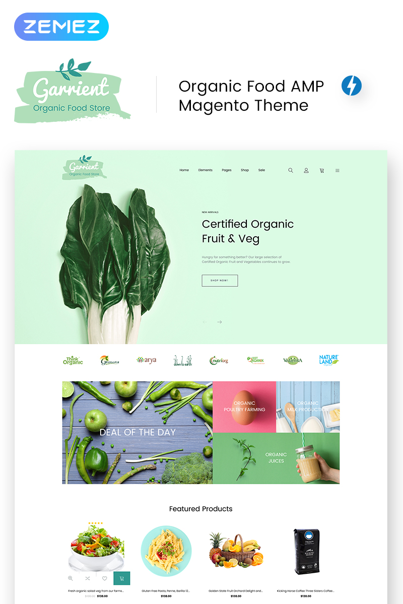 Garrient Organic Food Magento Theme