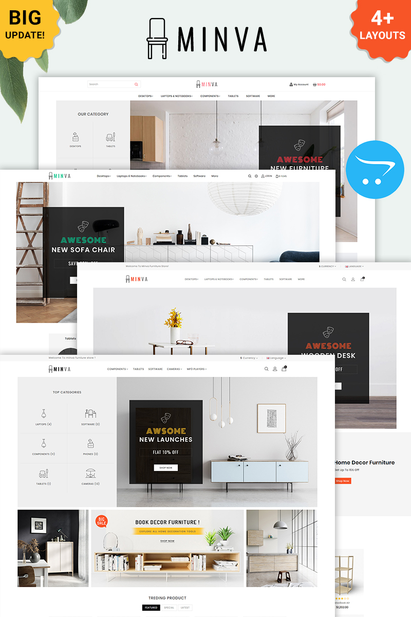 Minva - Multipurpose Furniture Store OpenCart Template