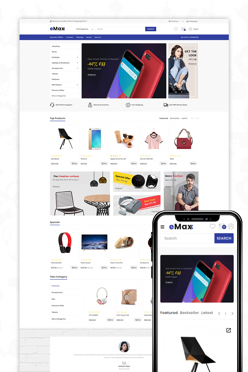eMax - The Shopping Mall OpenCart Template