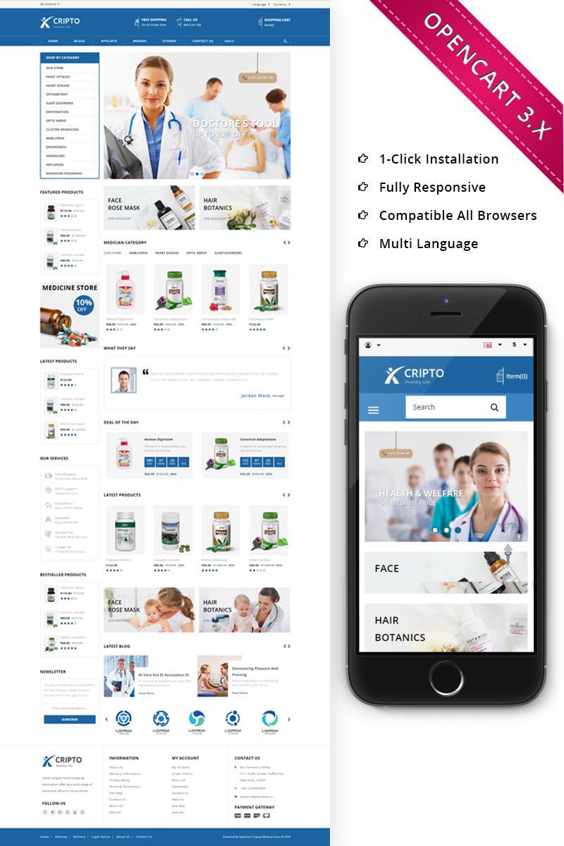 Cripto Medical Store - Responsive OpenCart Template