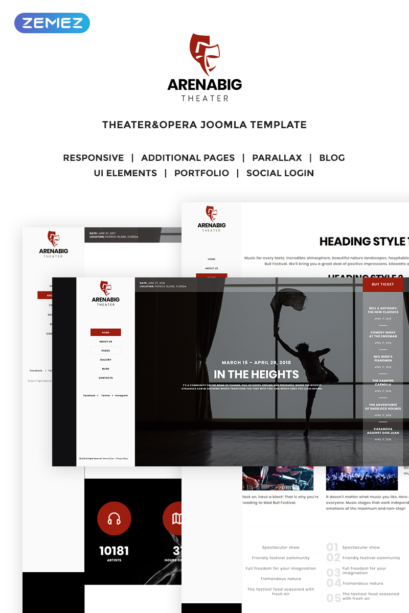 Arenabig Theater - Theater & Opera Joomla Template