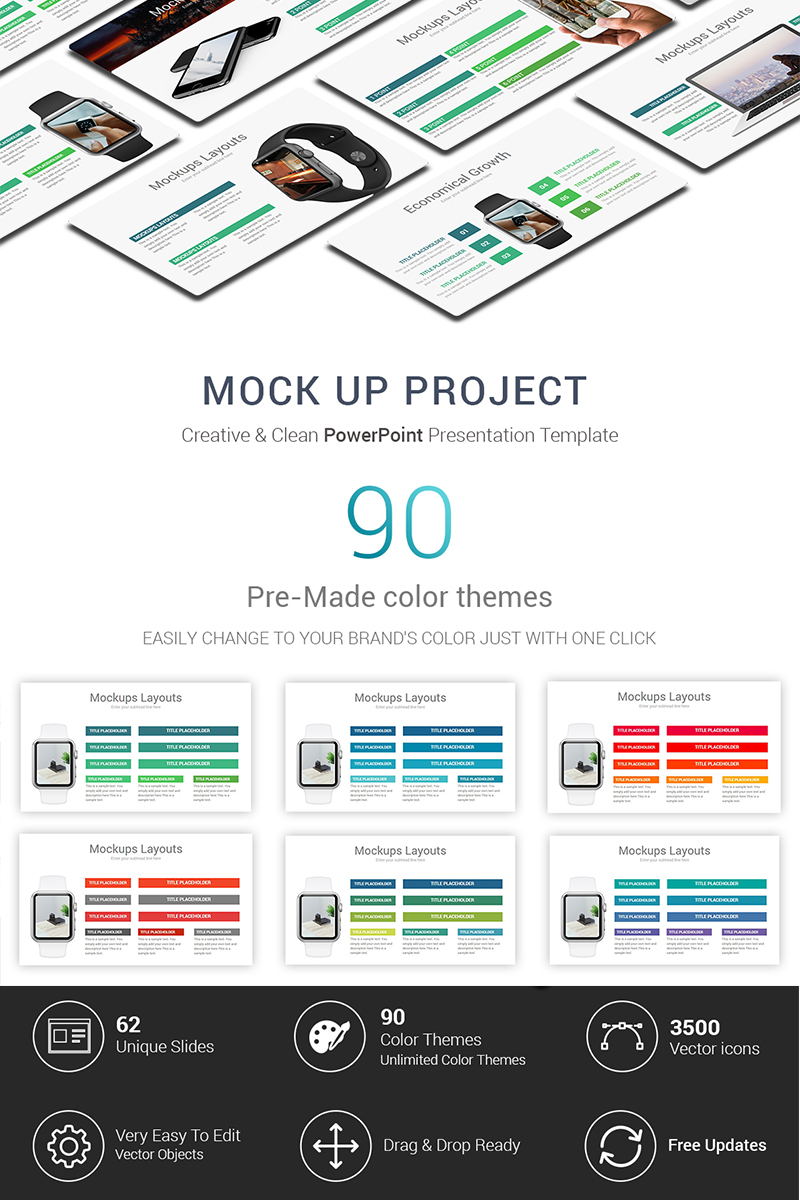 Mock Up Project PowerPoint Template
