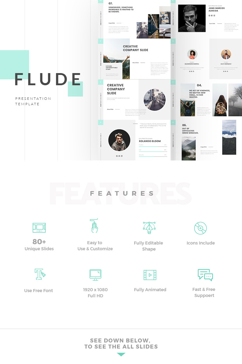 FLUDE Presentation PowerPoint Template