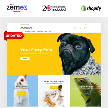 Template Animale de companie Shopify #70611