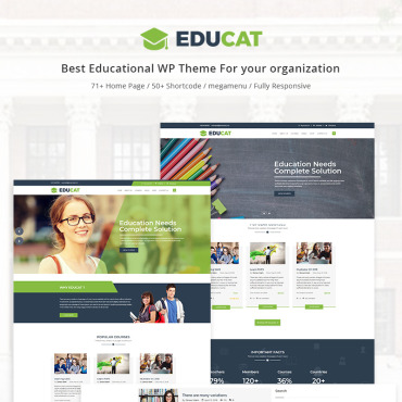 Template Educație WordPress #70629