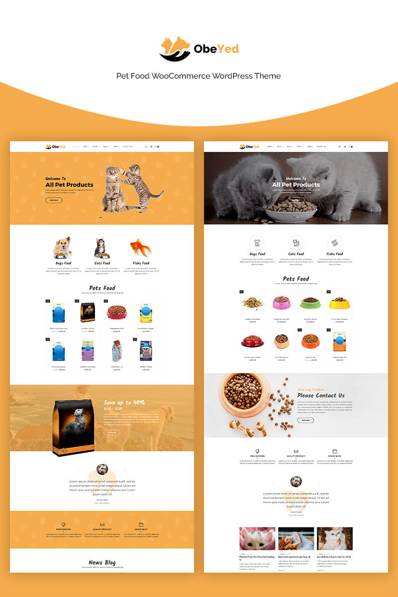 Obeyed - Pet Food WooCommerce Theme