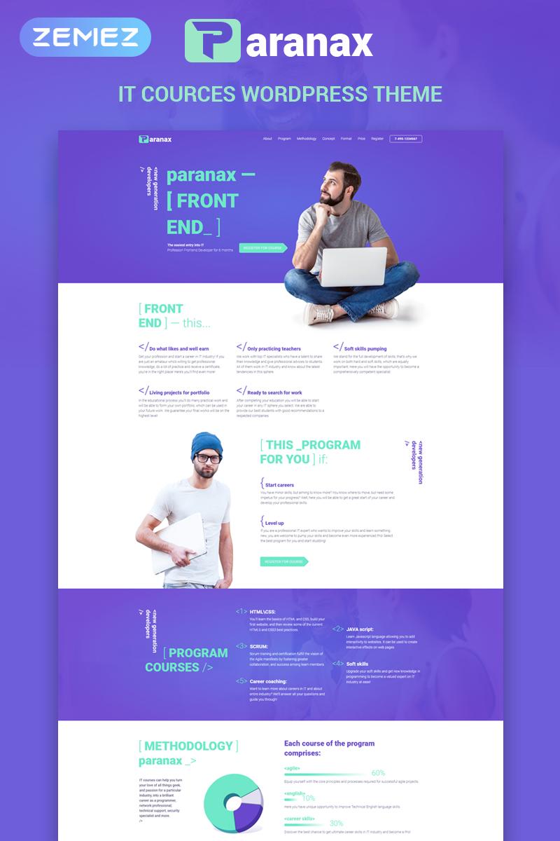 Paranax - IT Courses Elementor WordPress Theme