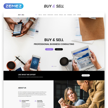 Template Afaceri Landing Page #70715