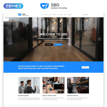 Template Afaceri Landing Page #70801
