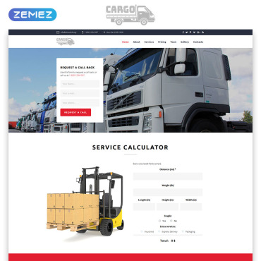 Template Transport Landing Page #70833