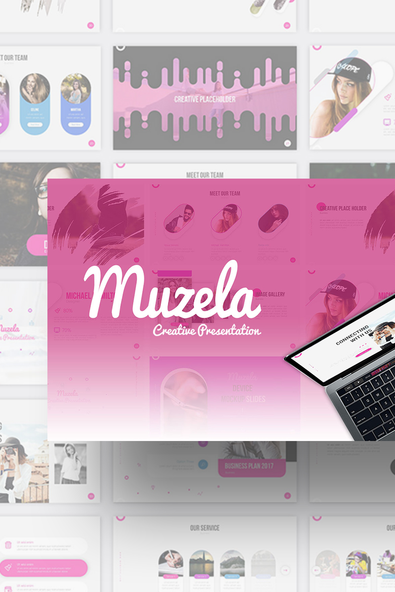 Muzella Creative Presentation PowerPoint Template
