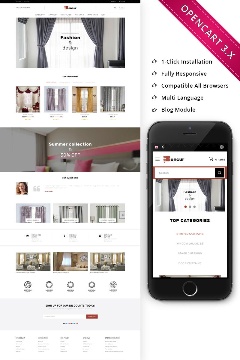 Boncur - The Curtain Shop Responsive OpenCart Template