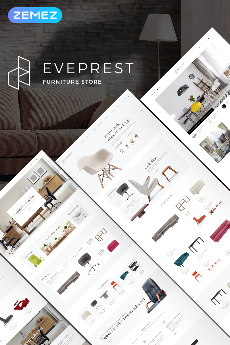 Eveprest Furniture 1.7 - Furniture Store PrestaShop Theme