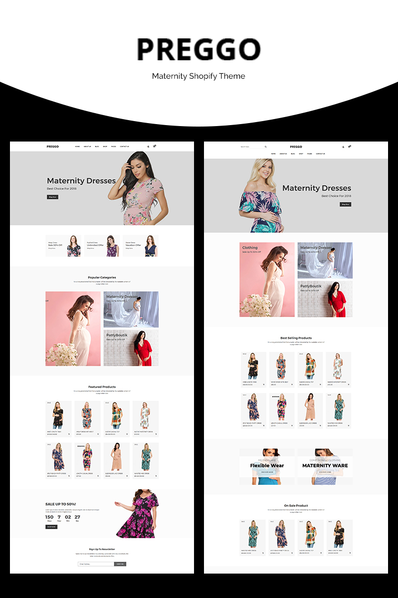 Preggo - Maternity Shopify Theme