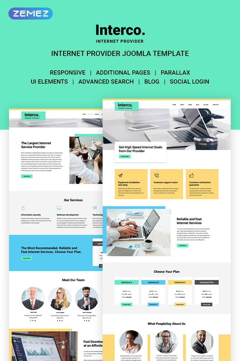 Interco Internet - Provider Joomla Template