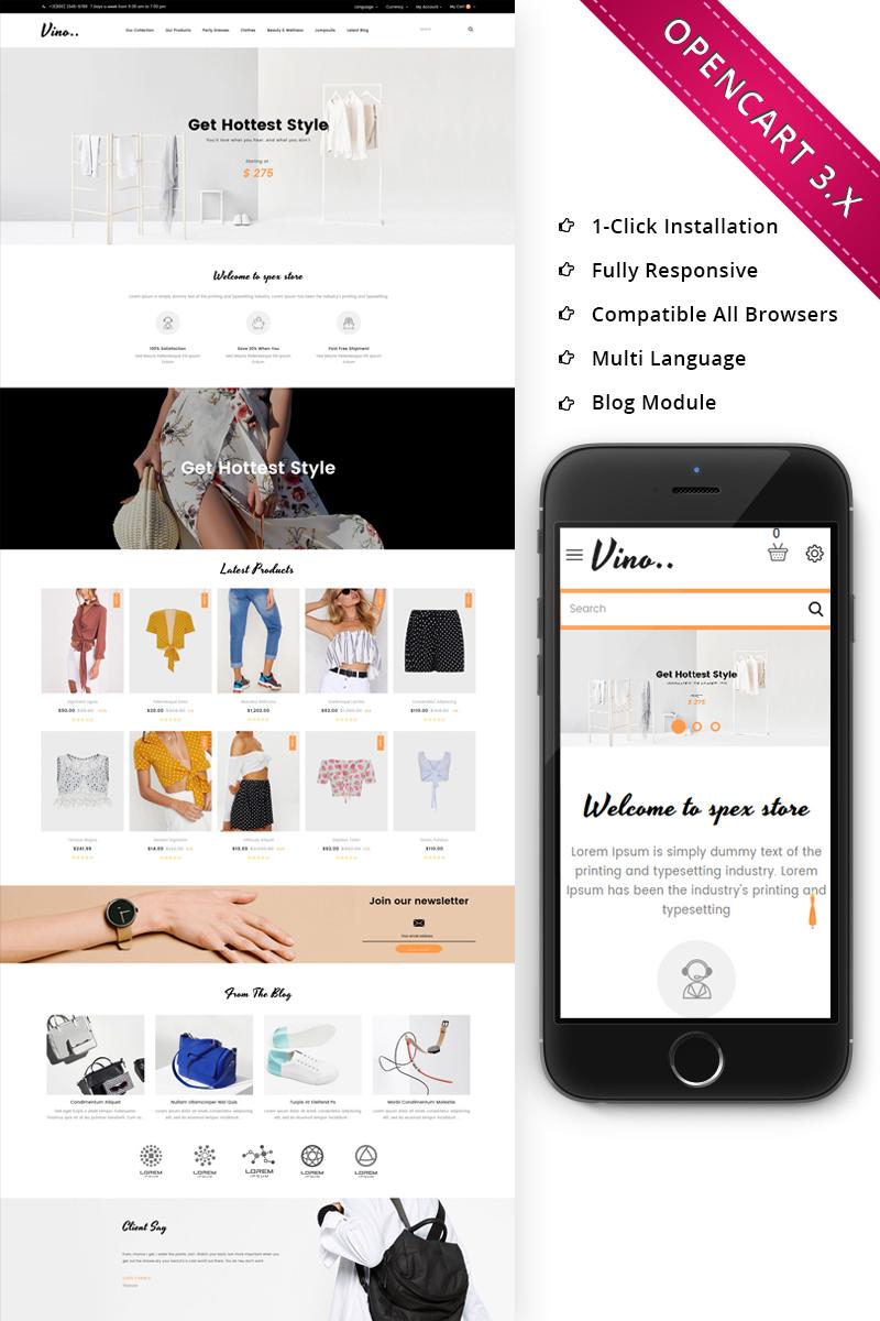 Vino Fashion Store - Responsive OpenCart Template
