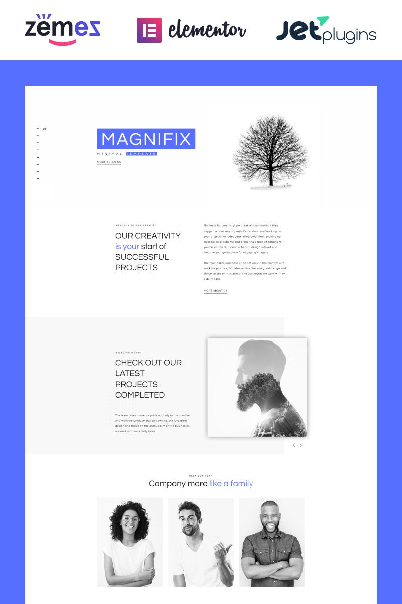 Magnifix - Minimal Parallax WordPress Theme