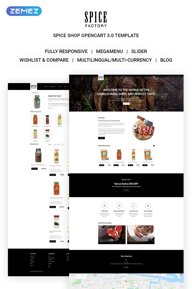 Spice Factory Responsive OpenCart Template