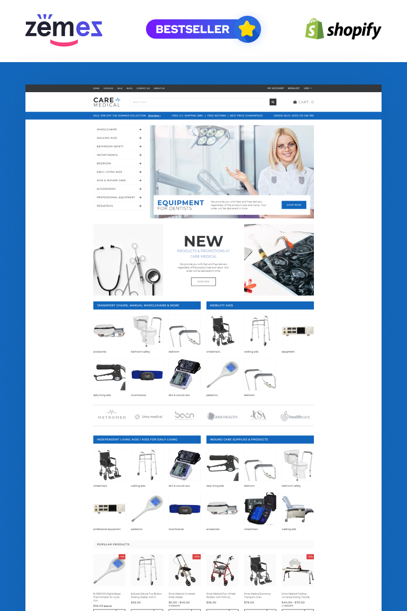 Care - Medical Equipment Shopify Theme