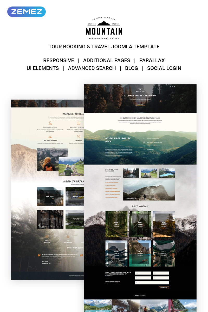 Mountain Tours Joomla Template