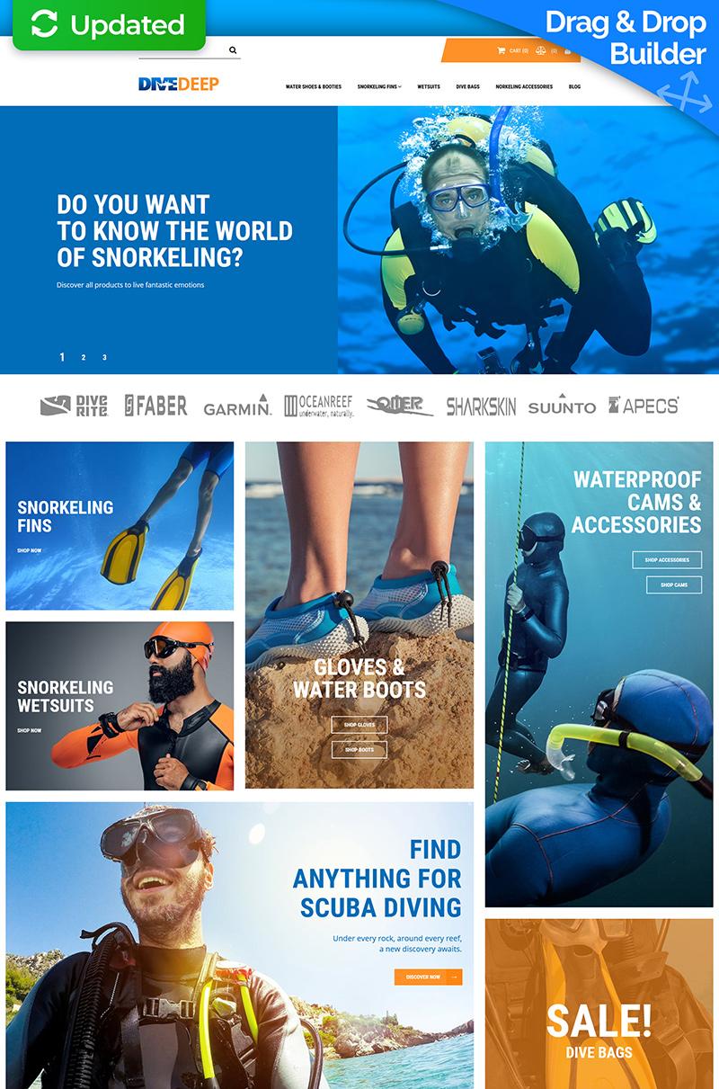DiveDeep - Snorkeling Gear Store MotoCMS Ecommerce Template