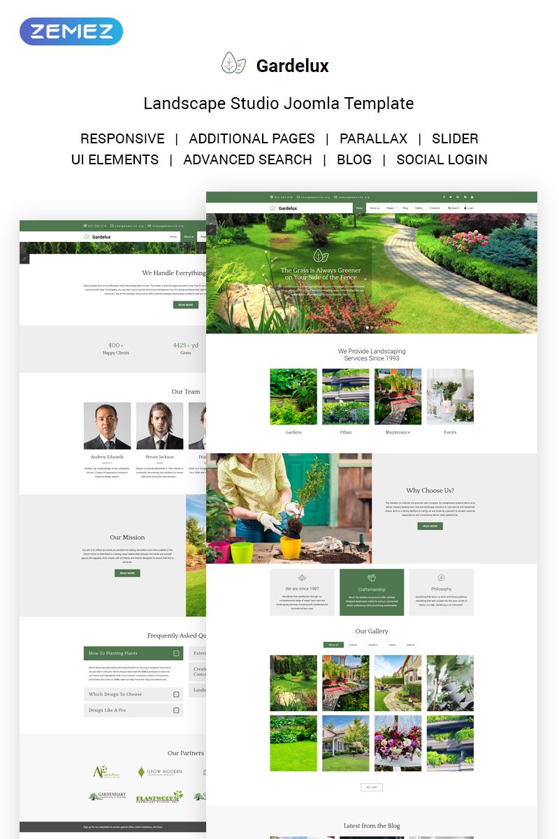 Gardelux - Landscape Studio Joomla Template