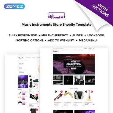 Template Muzică Shopify #71713