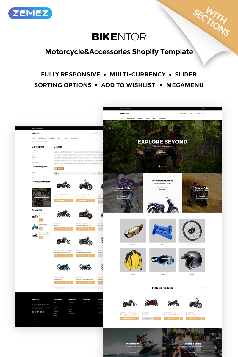 Bikentor - Extreme Motorcycle Online Store Shopify Theme