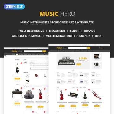 Template Muzică OpenCart #71808