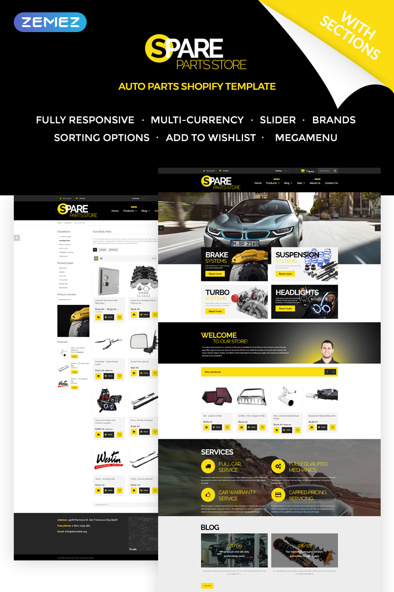 Spare Parts Store Shopify Theme