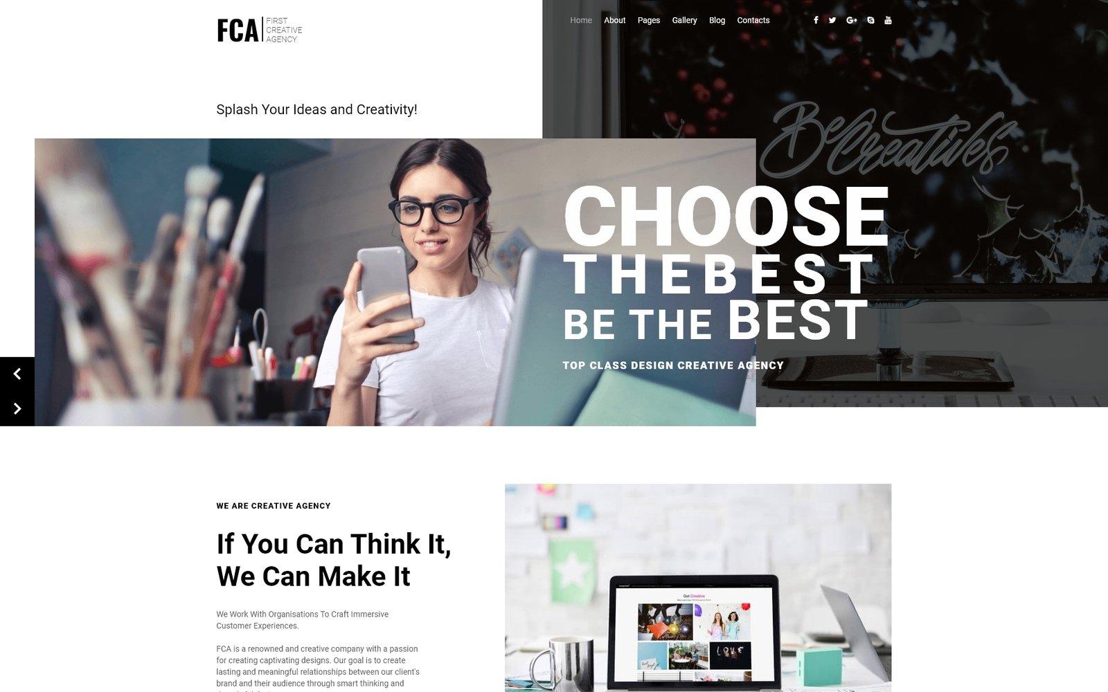 FCA - Impressive Creative Agency Joomla Template