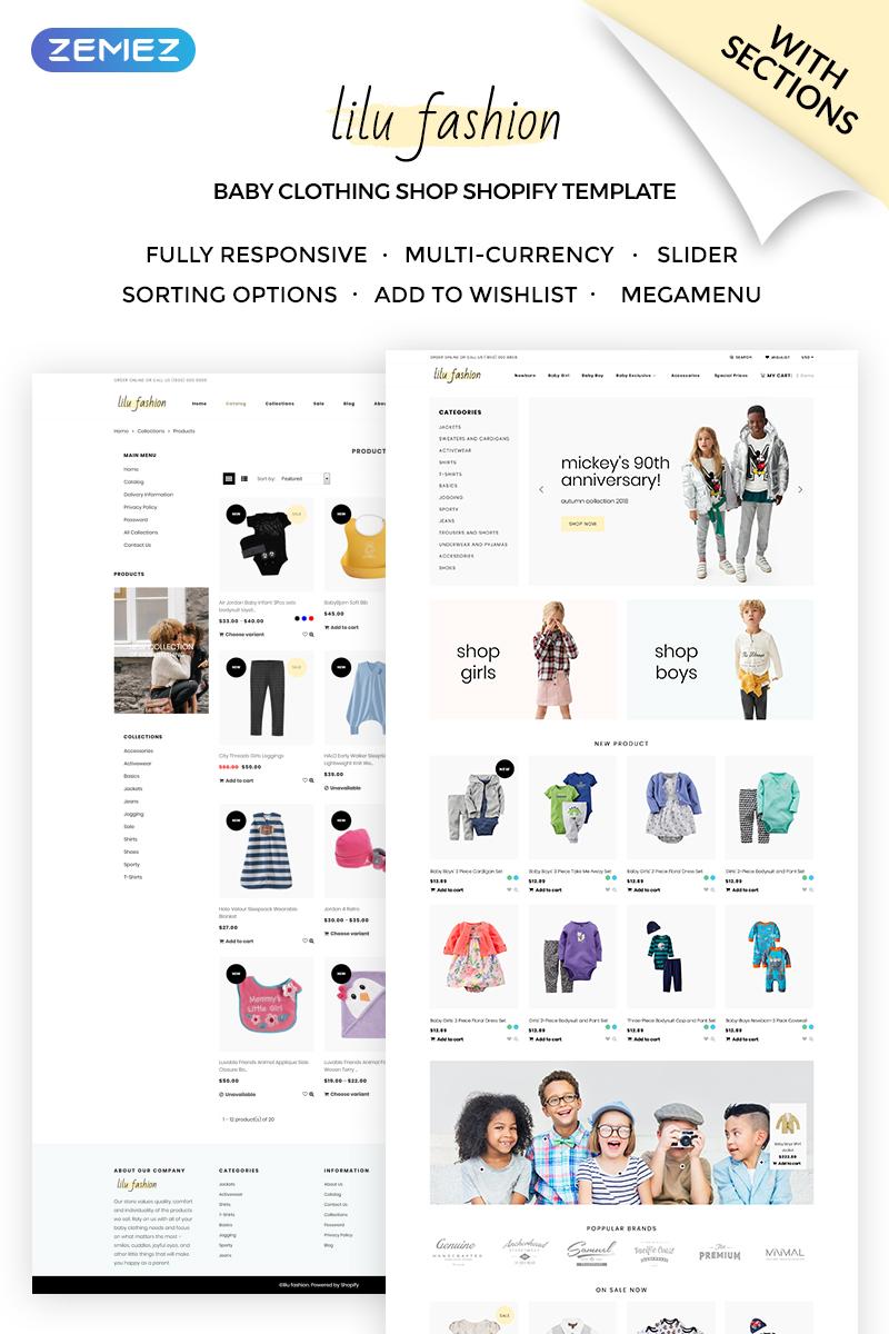 Lilu Fashion - Baby Clothing Shopify Theme