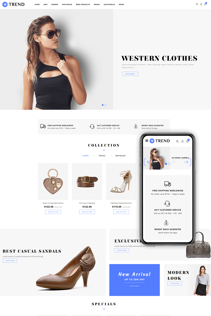 Trend - Fashion Accessories Store OpenCart Template