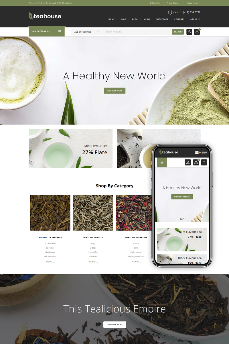 Teahouse - Multi Purpose Store WooCommerce Theme