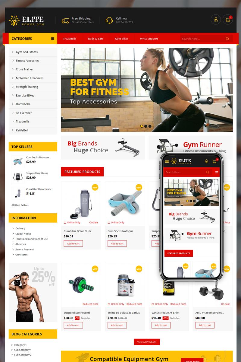 Elite Power Gym Store PrestaShop Theme