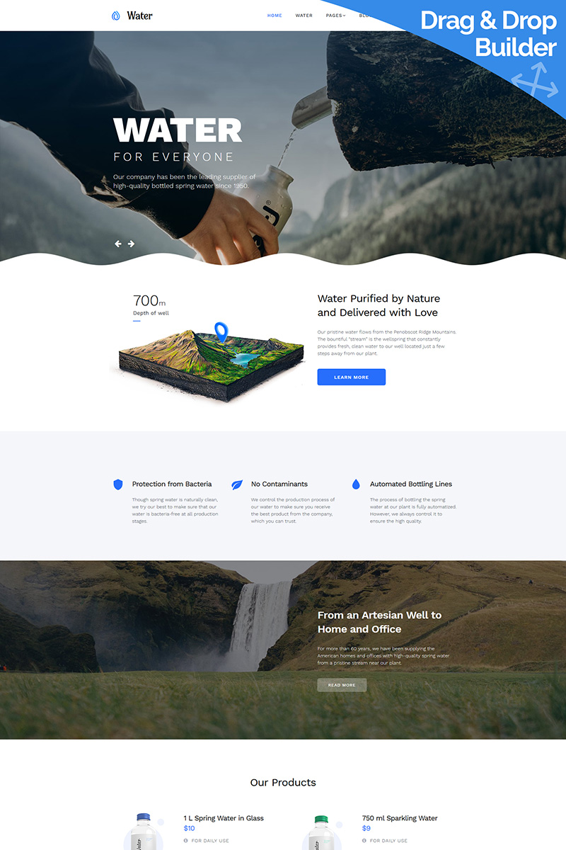 Water Moto CMS 3 Template
