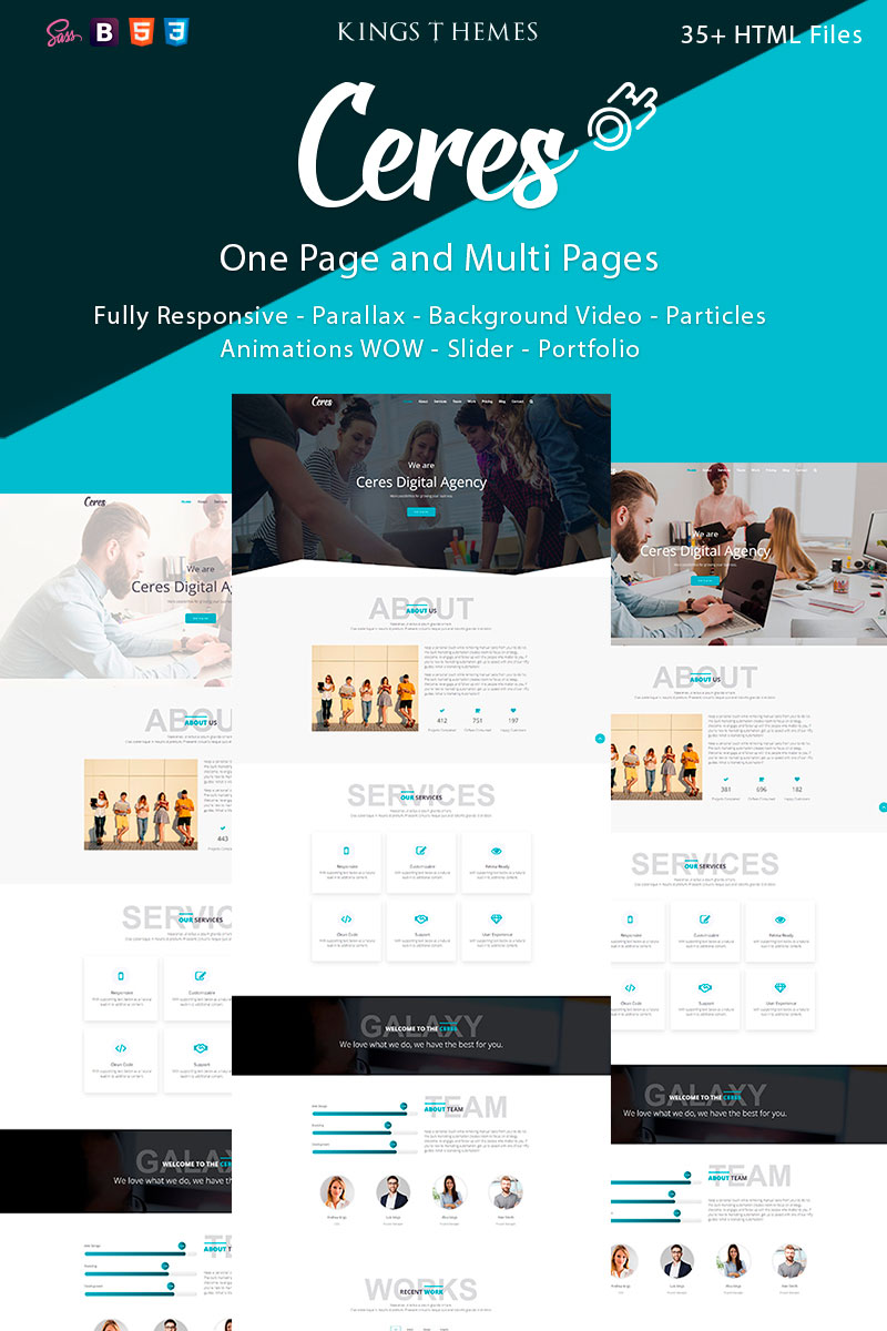 Ceres - Multipurpose Landing Page Template