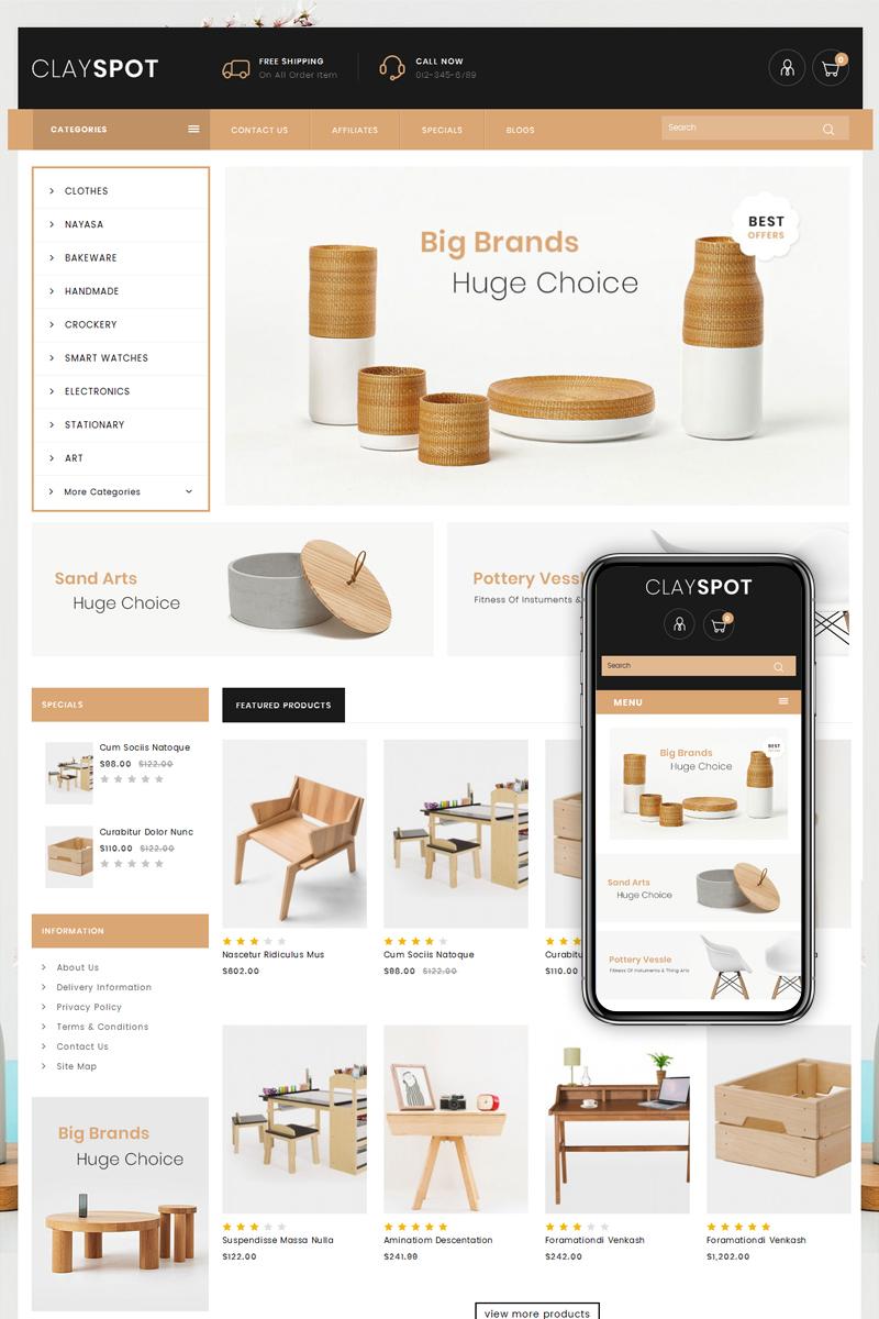Clayspot - Home Decor Store OpenCart Template