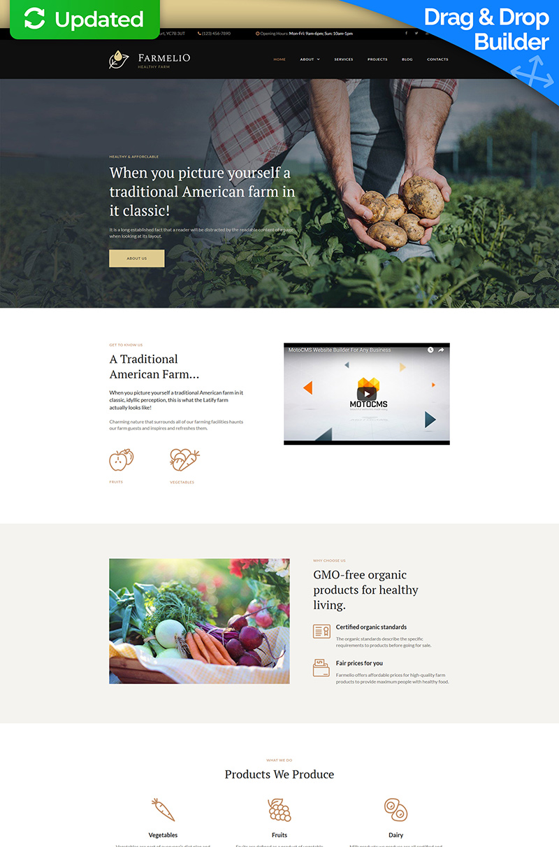 Farmelio - Farm Moto CMS 3 Template