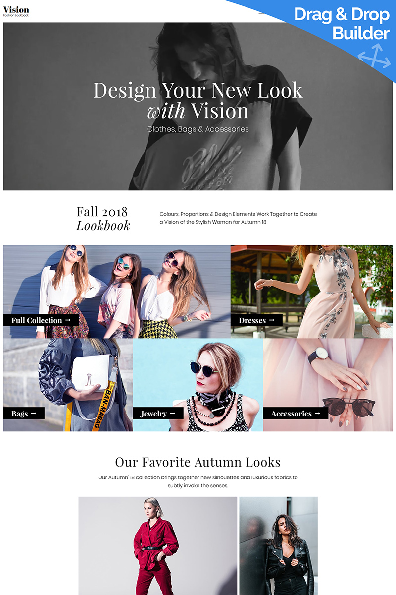 Lookbook Moto CMS 3 Template