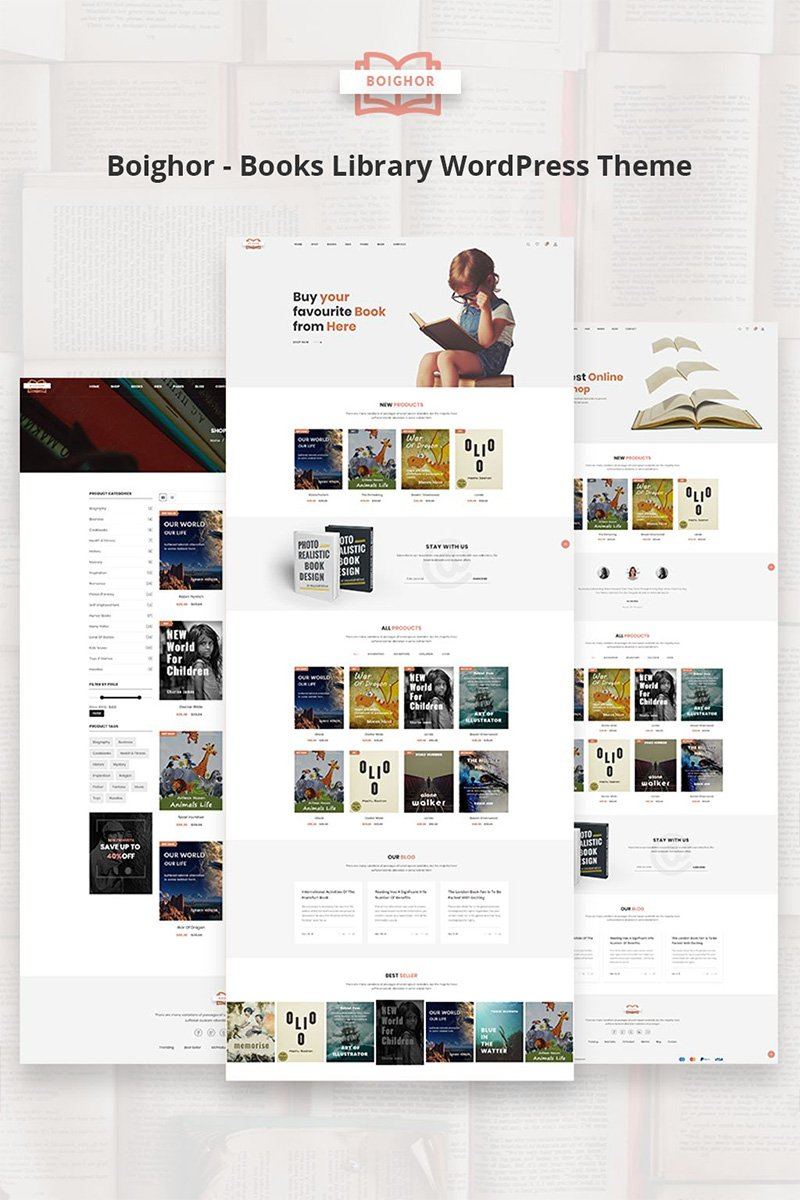 Boighor - Books Library WooCommerce Theme