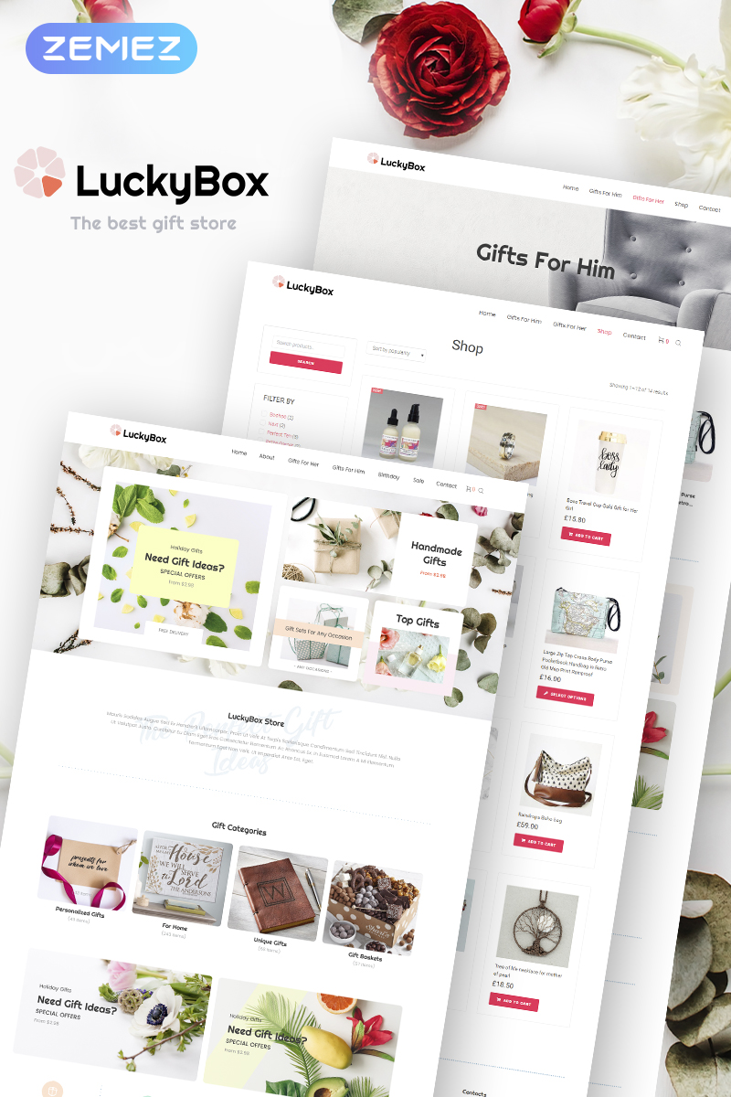 LuckyBox - Gift Store Elementor WooCommerce Theme