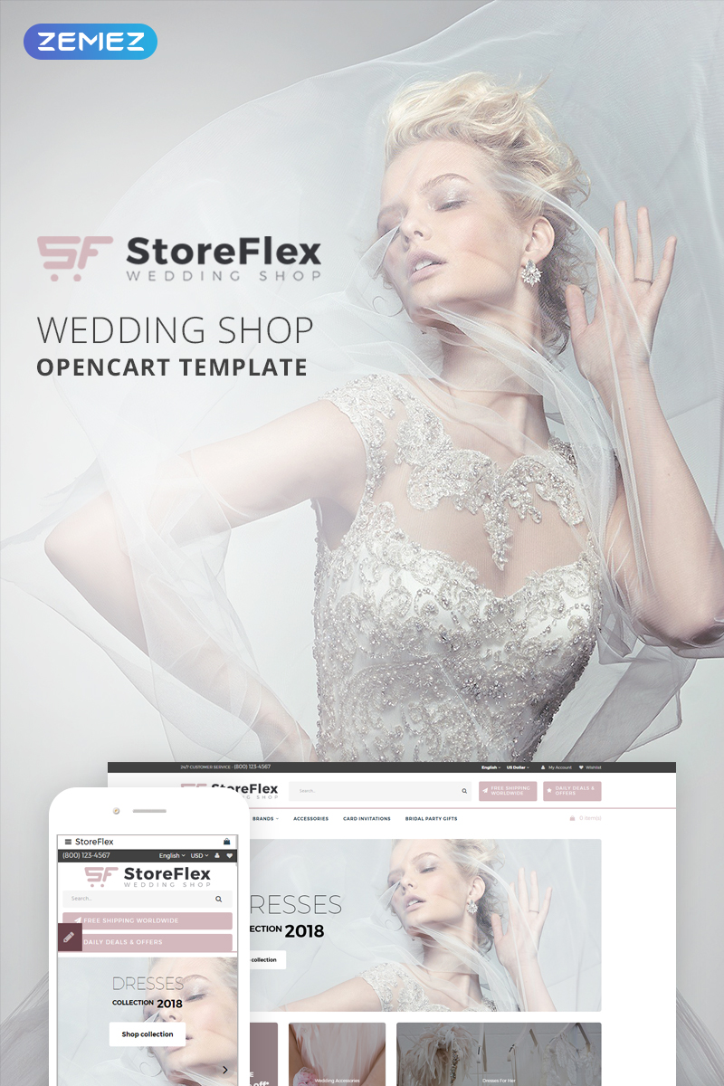 StoreFlex - Wedding Store OpenCart Template