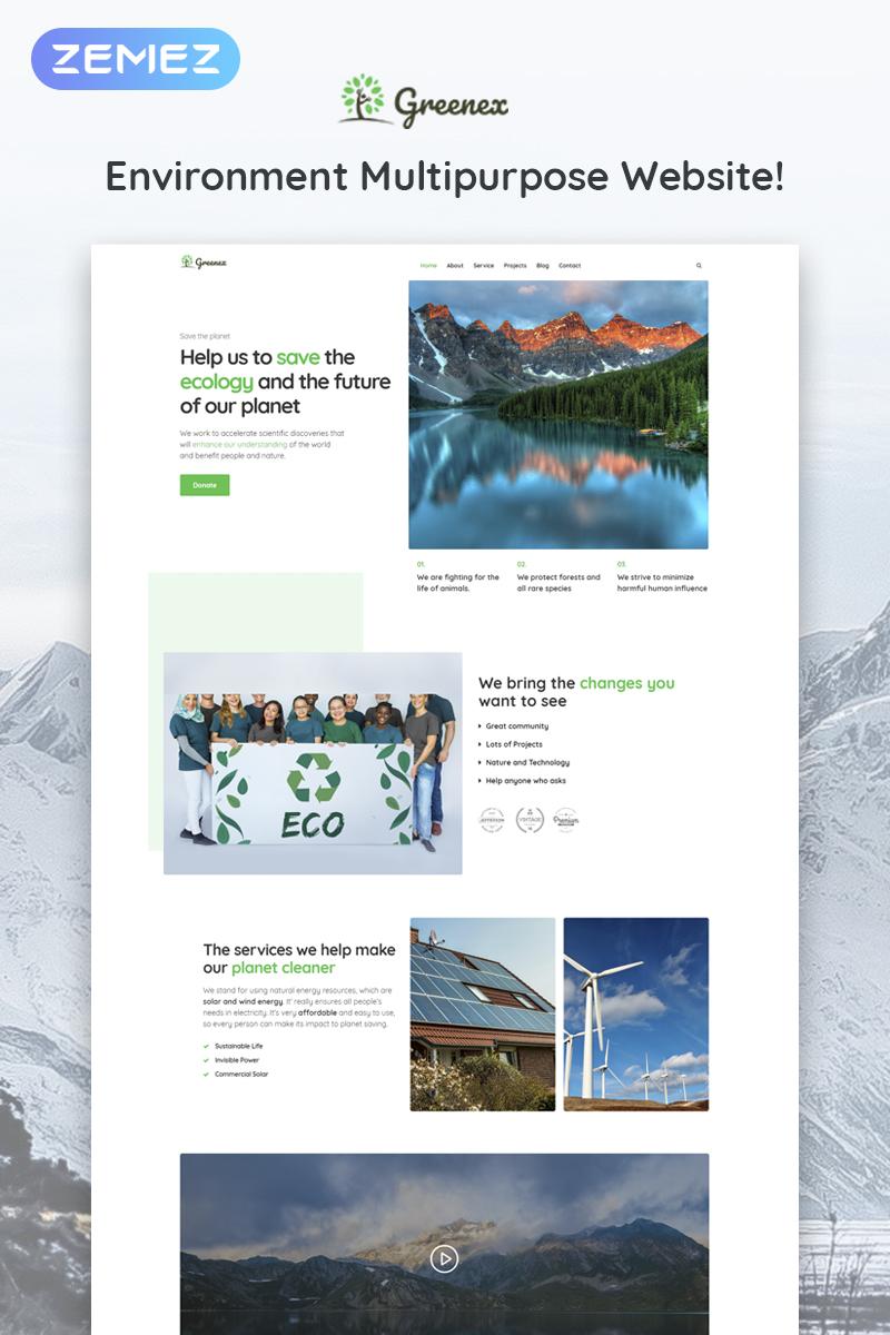 Greenex - Environment Multipurpose Elementor WordPress Theme