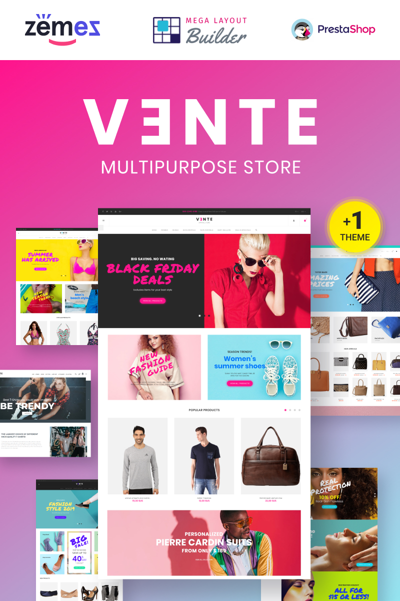 Vente - Apparel Multistore Design Theme PrestaShop Theme