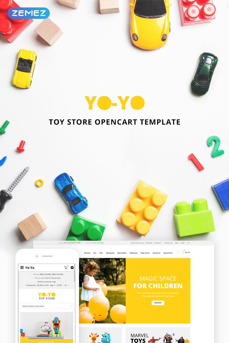 Yo-Yo Toy Store OpenCart Template