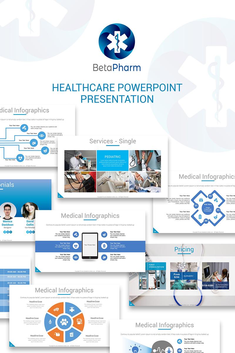 BetaPharm Healthcare PPT Slides PowerPoint Template
