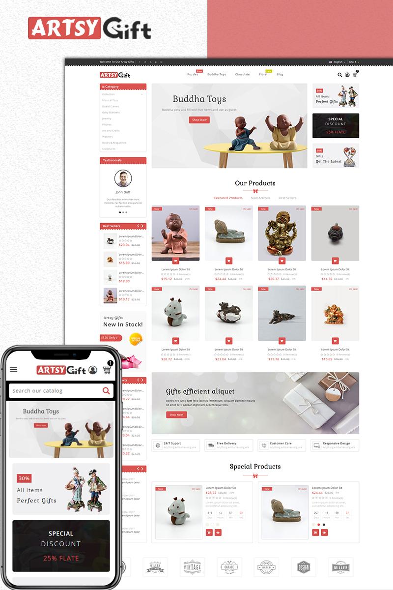 Artsygift- Gift Store PrestaShop Theme