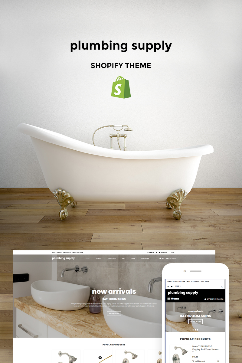 Plumbing Supply - Plumbing Supplies Store Shopify Theme