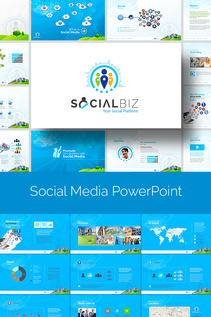 SocialBiz | Social Media PowerPoint Template